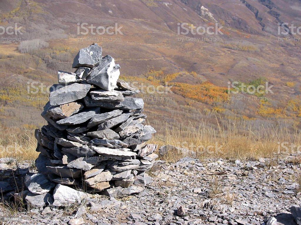 Summit Cairn royalty-free stock photo