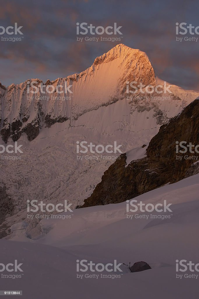 Summit camp royalty-free stock photo