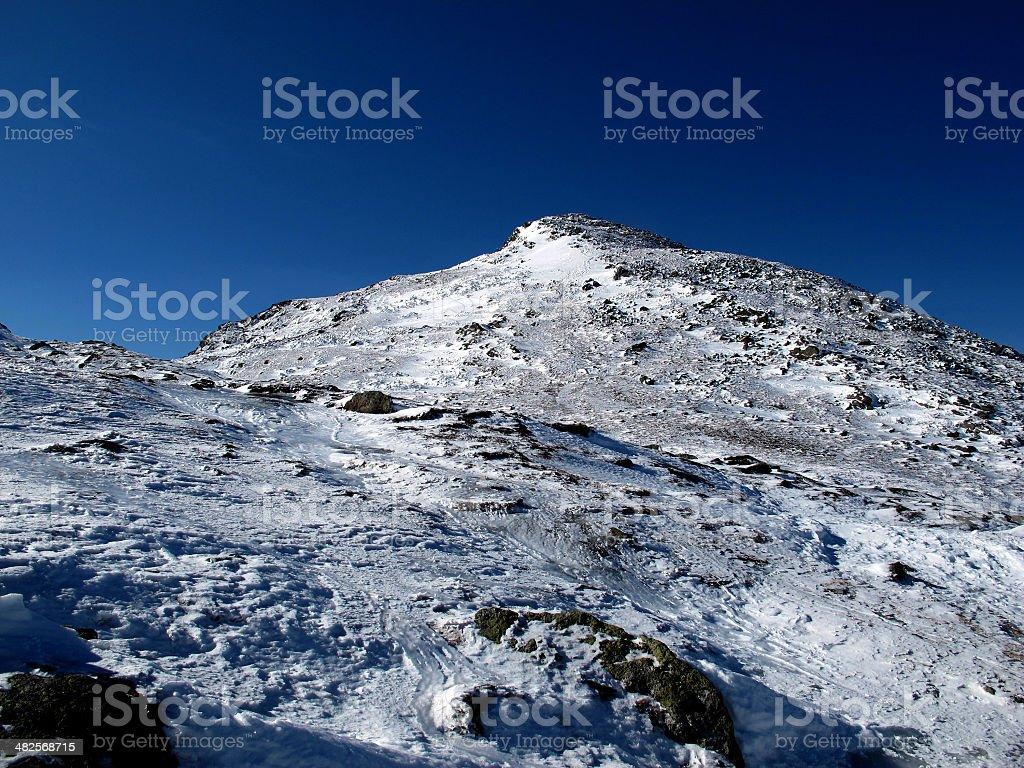 Summit Cone of Mt Monroe stock photo