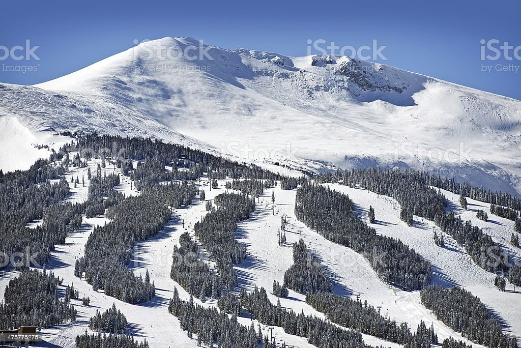 Summit County Ski Slopes stock photo