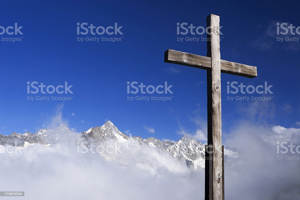 Summit Cross royalty-free stock photo