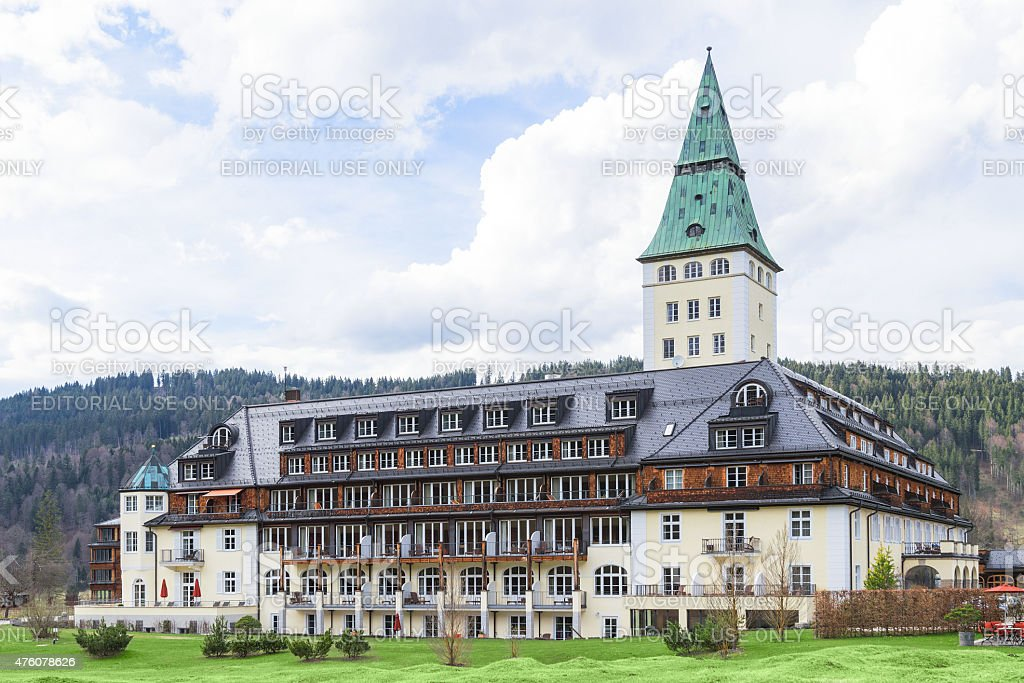 Summit G8 will be held in summer 2015 Schloss Elmau stock photo