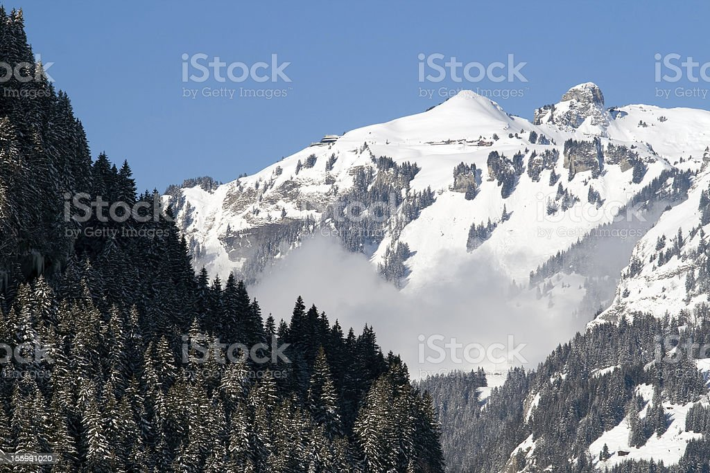 Summit in Switzerland royalty-free stock photo