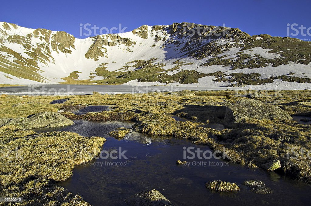 Summit Lake Landscape Near Mount Evans, Colorado stock photo