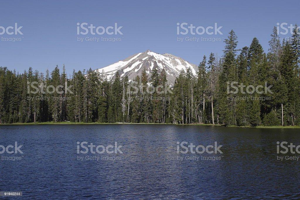 Summit Lake stock photo
