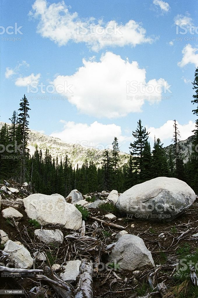 Summit of Big White mountain royalty-free stock photo