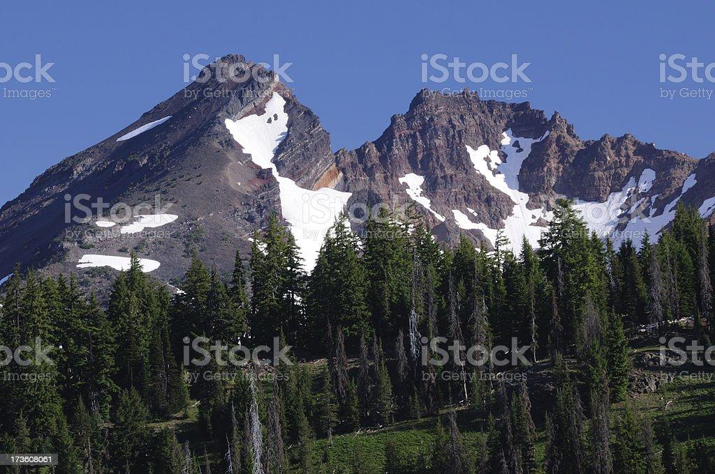 Summit of Broken Top stock photo
