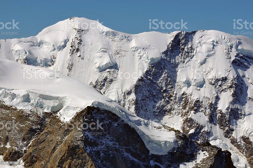 Summit of Liskamm stock photo