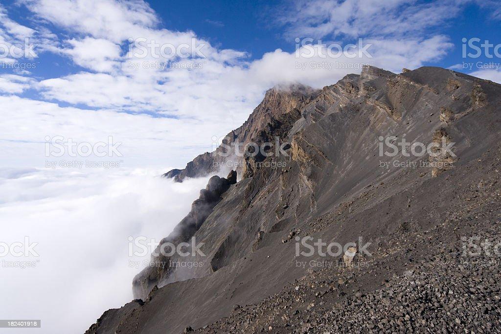 Summit of Mount Meru stock photo