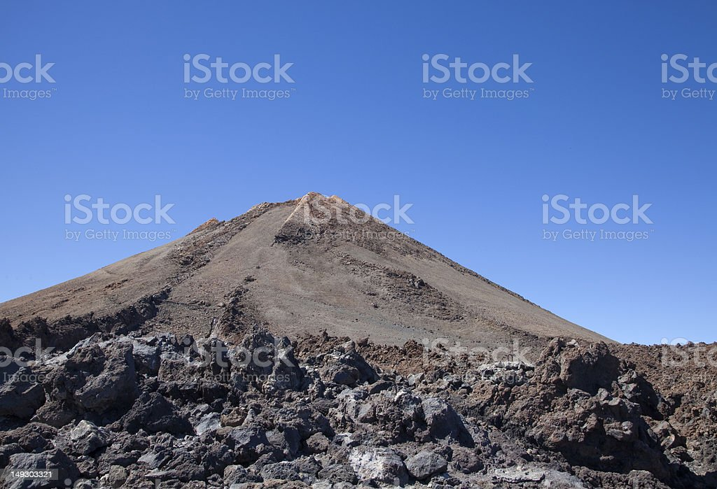 Summit of Mount Teide stock photo