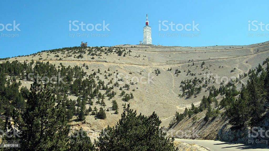 Summit of Mount Ventoux by Malaucene stock photo