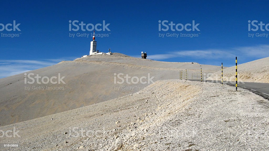 Summit of Mount Ventoux, Vaucluse, France stock photo