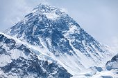 Summit of mt. Everest from Kala Patthar, Solu Khumbu, Nepal