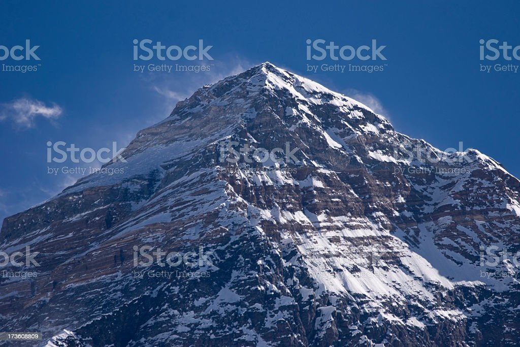 Summit of Mt Everest(8850m) Great details! See full size photo royalty-free stock photo