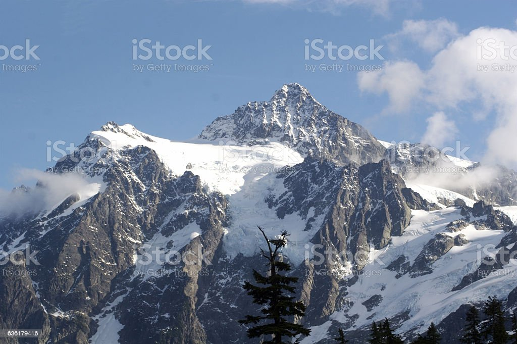 Summit Of Mt. Shuksan stock photo