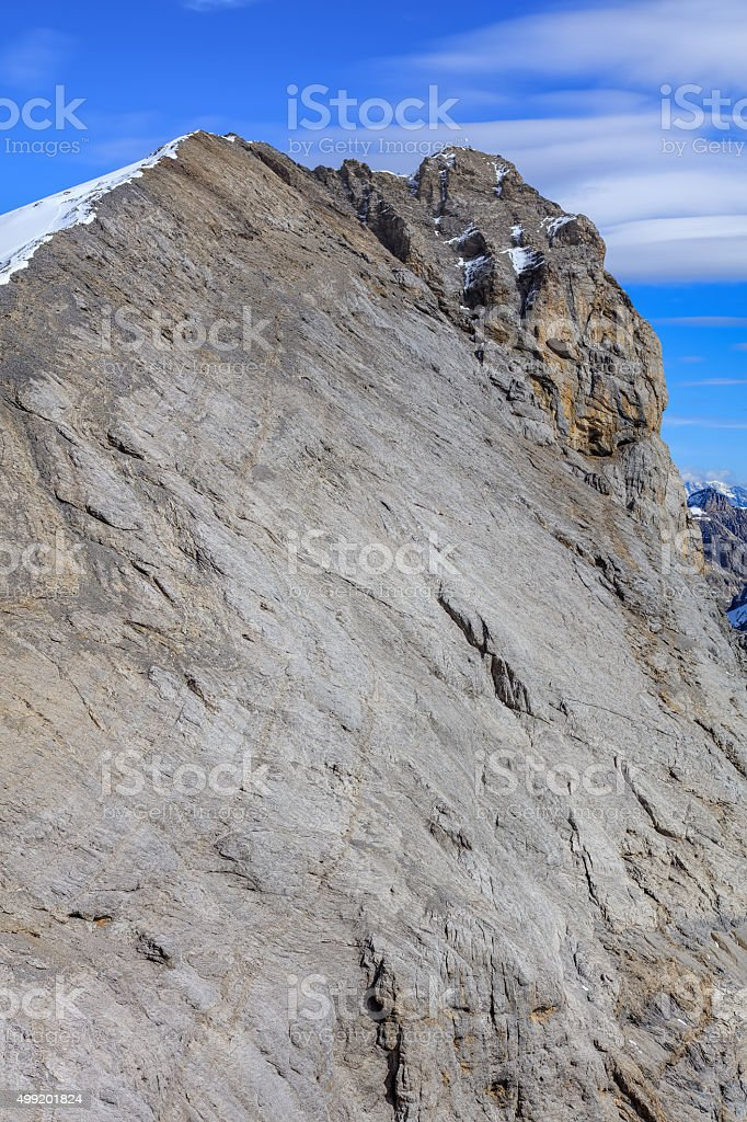 Summit of Mt. Titlis in the Swiss Alps stock photo