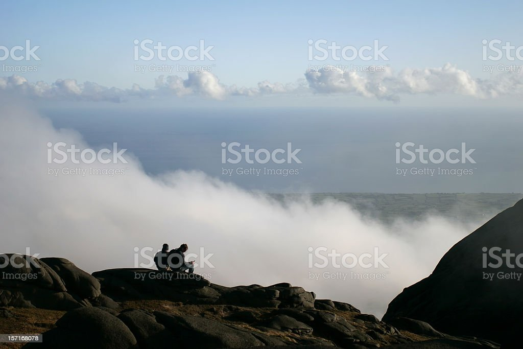 Summit of Slieve Binian, the Mourne Mountains stock photo