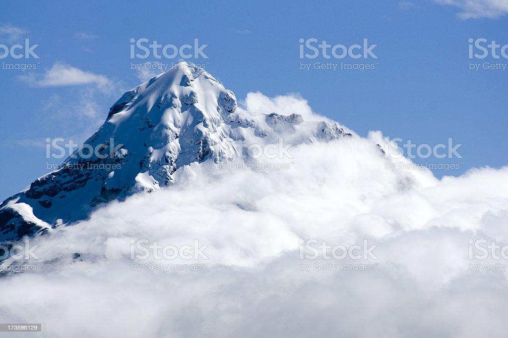 Summit of the Iliniza Sud volcano royalty-free stock photo