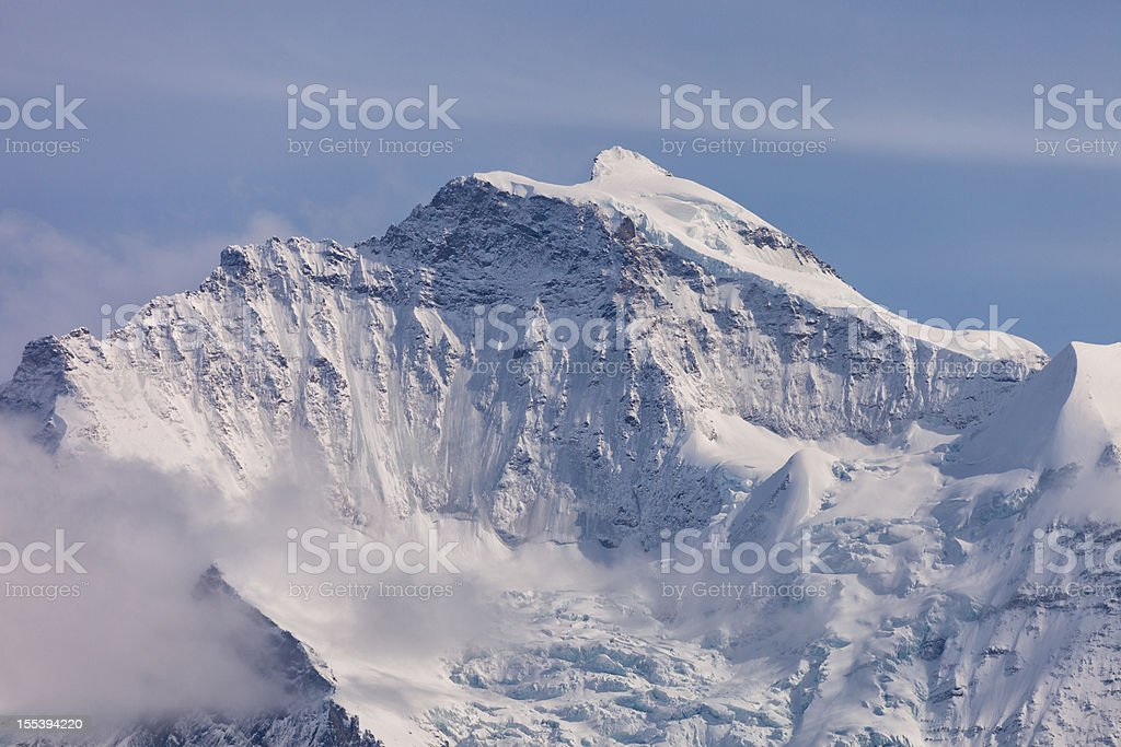 Summit of the Jungfrau, Swiss Icon, Bernese Oberland royalty-free stock photo