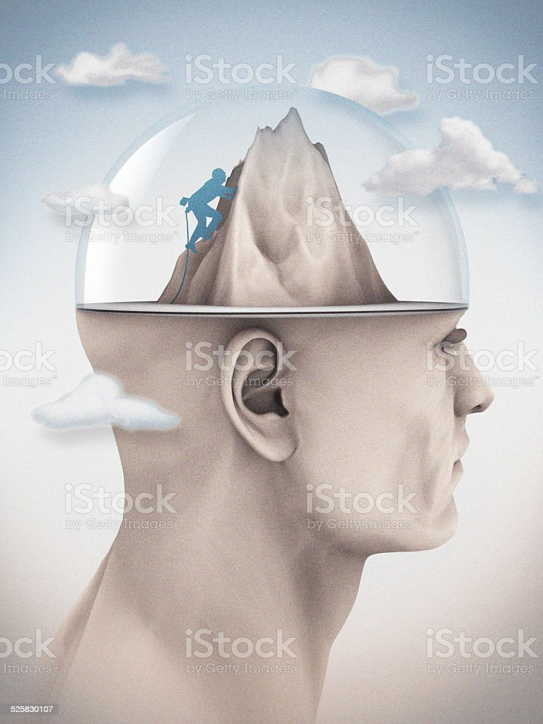 Summit of The Mind stock photo