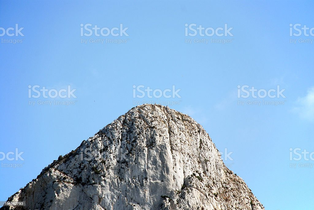 Summit of the Penon de Ifach royalty-free stock photo