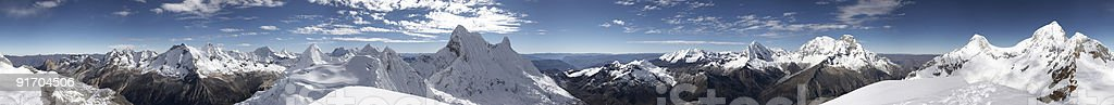 Summit panorama, Andes royalty-free stock photo
