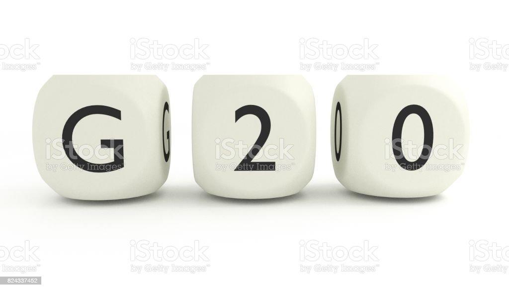 G20 summit stock photo