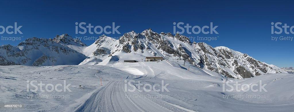 Summit station in the Pizol ski area stock photo