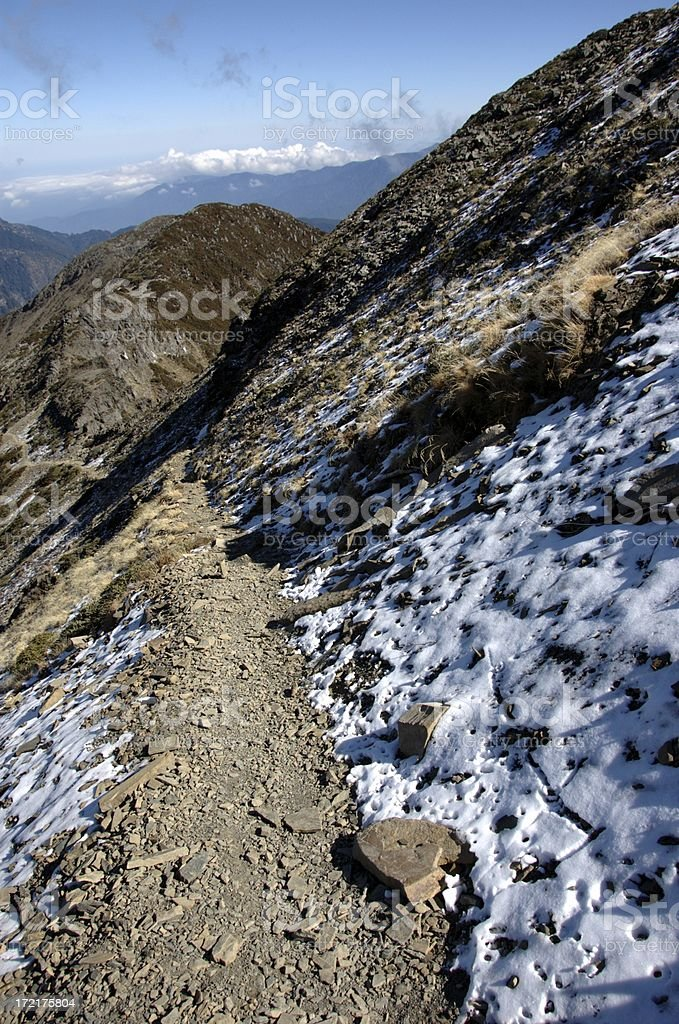Summit Trail @ Syue Shan (Taiwan Central Mountain Range) stock photo