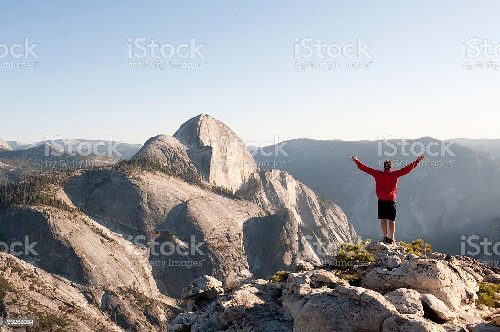 Summiting the Sierra stock photo