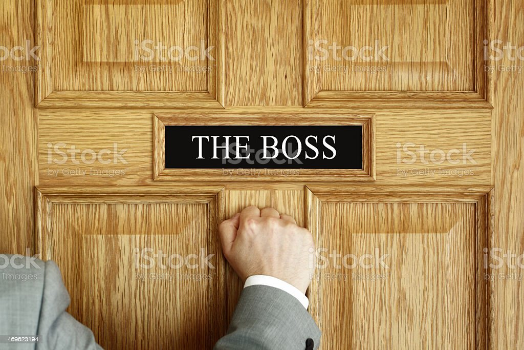Summoned to see The Boss stock photo