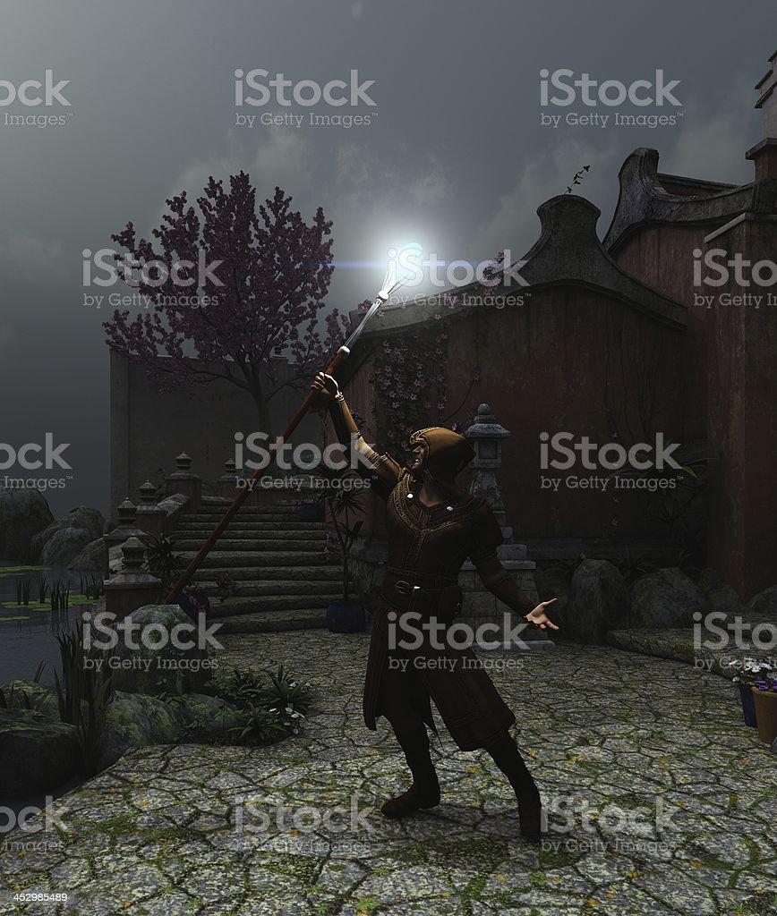 Summoning the Light stock photo