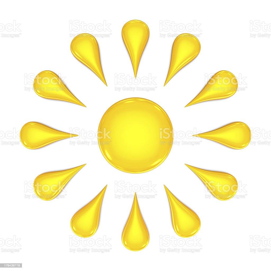 Sun 3d royalty-free stock photo