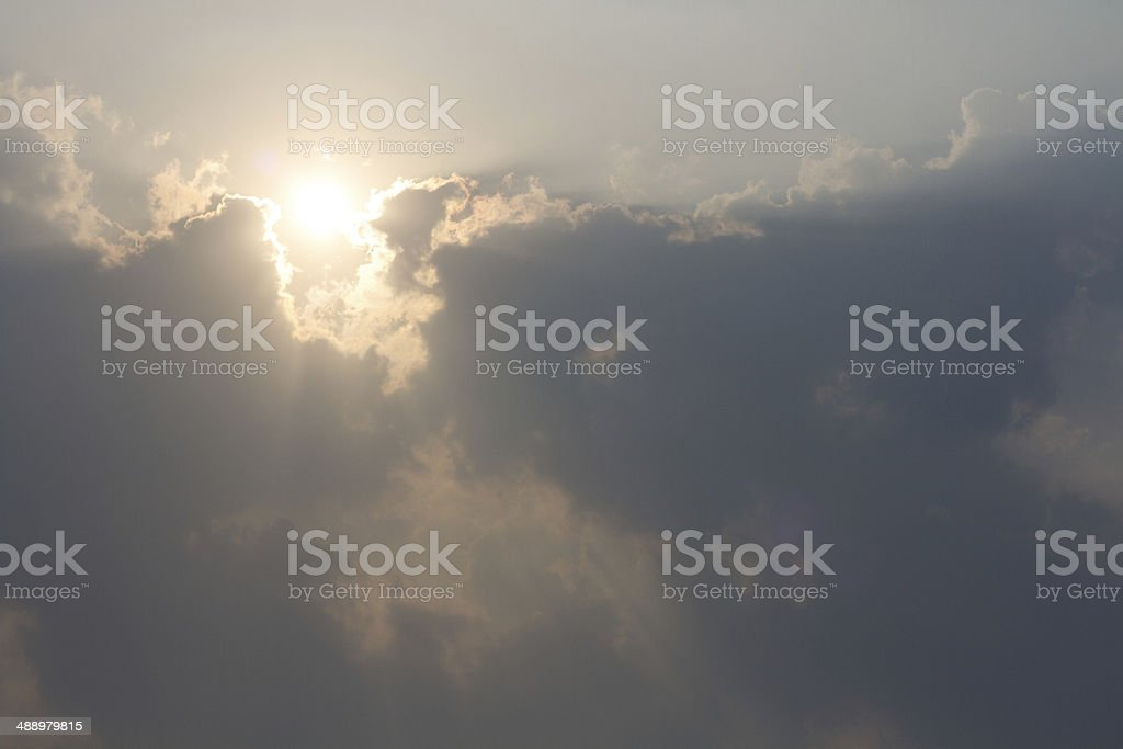 Sun above the clouds royalty-free stock photo