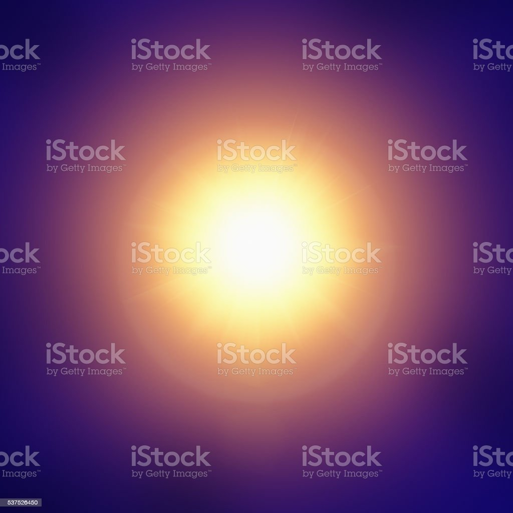 Sun, abstract, blue, gold, purple, circular, dazzling, hypnotic, background, stock photo