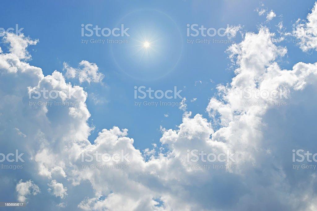 sun among clouds royalty-free stock photo