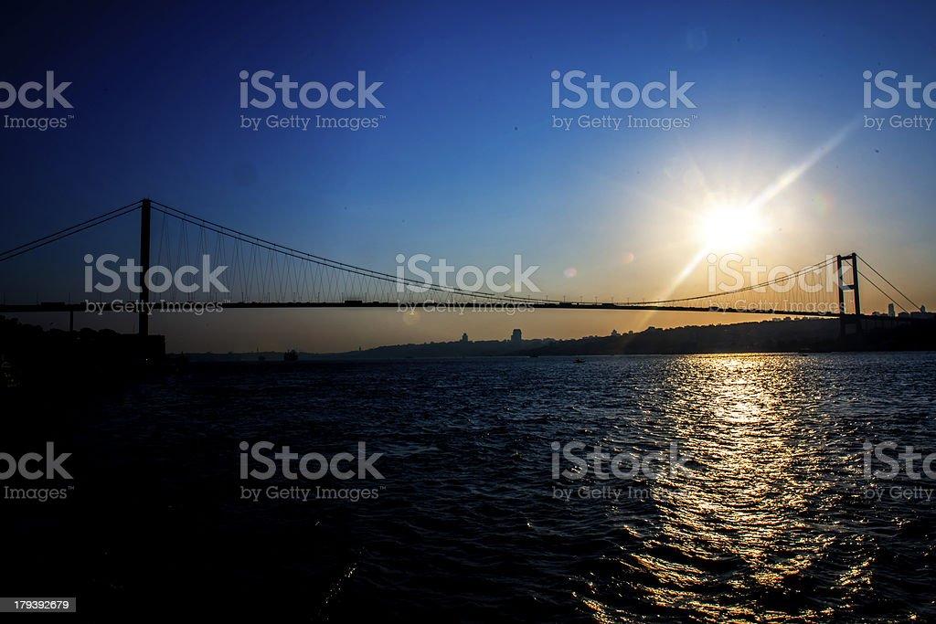 Sun and Bosphorus royalty-free stock photo