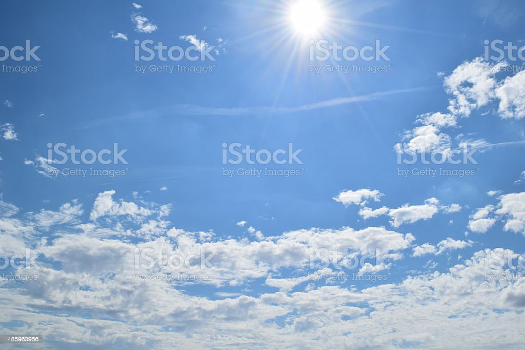 Sun and cloud royalty-free stock photo