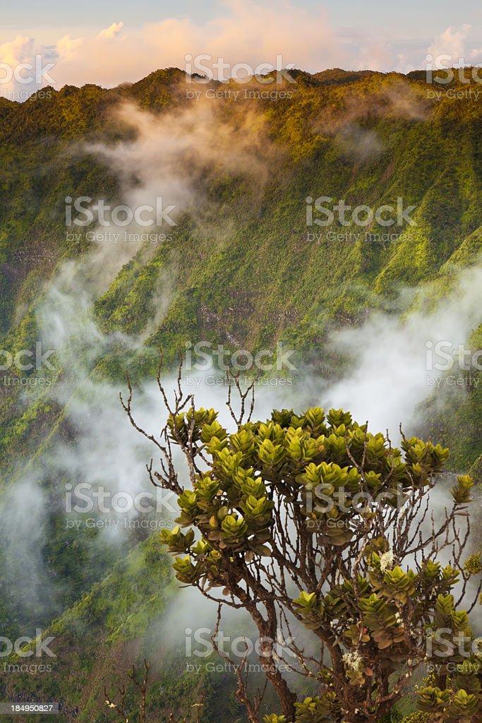 Sun and Clouds at Na Pali Coast royalty-free stock photo