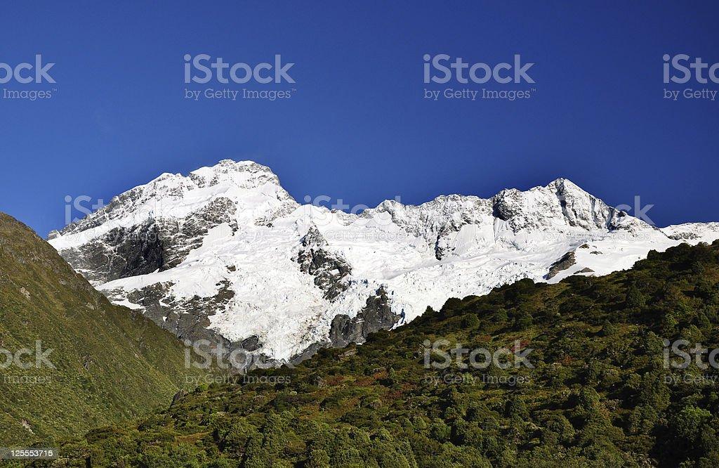 Sun and Ice - Mount Cook mountain Range, New Zealand royalty-free stock photo