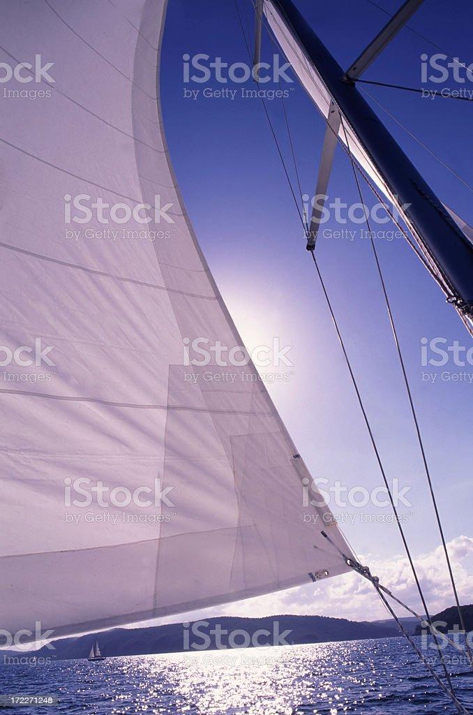 Sun and sails stock photo