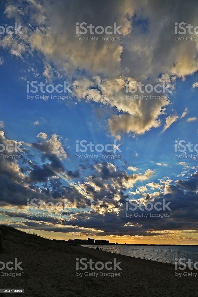 sun and sky and beach stock photo