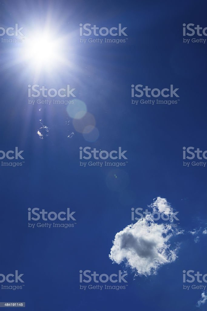 Sun and sky royalty-free stock photo