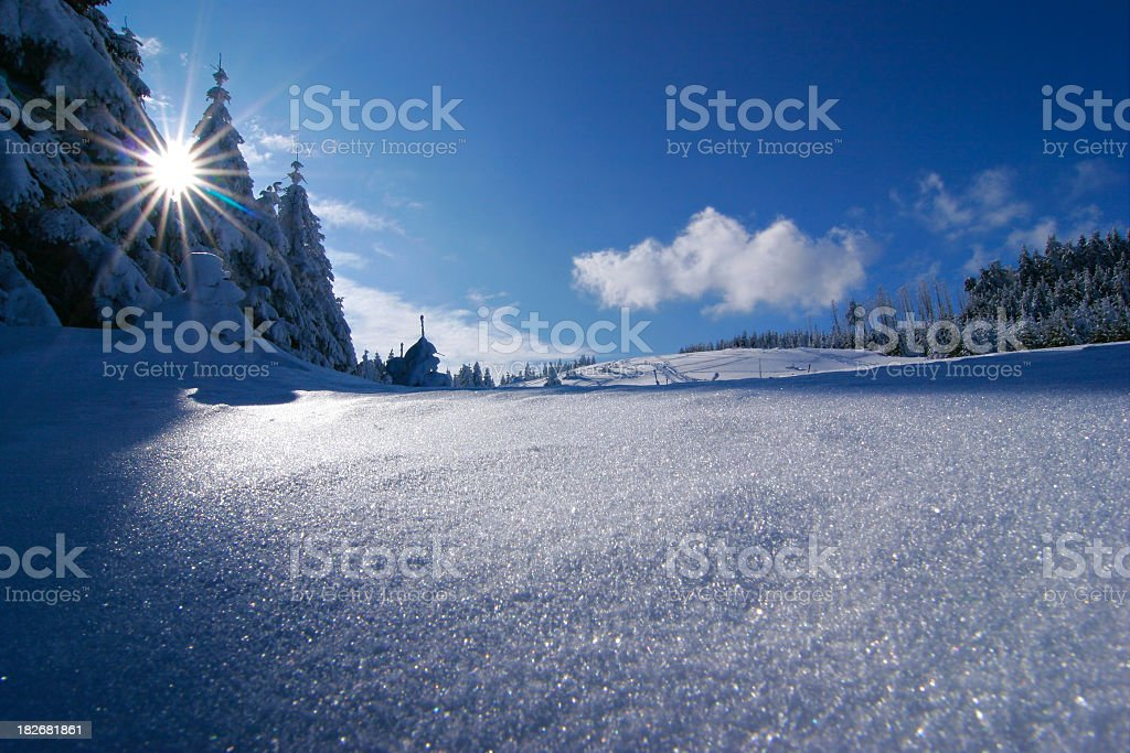 Sun and Snow royalty-free stock photo
