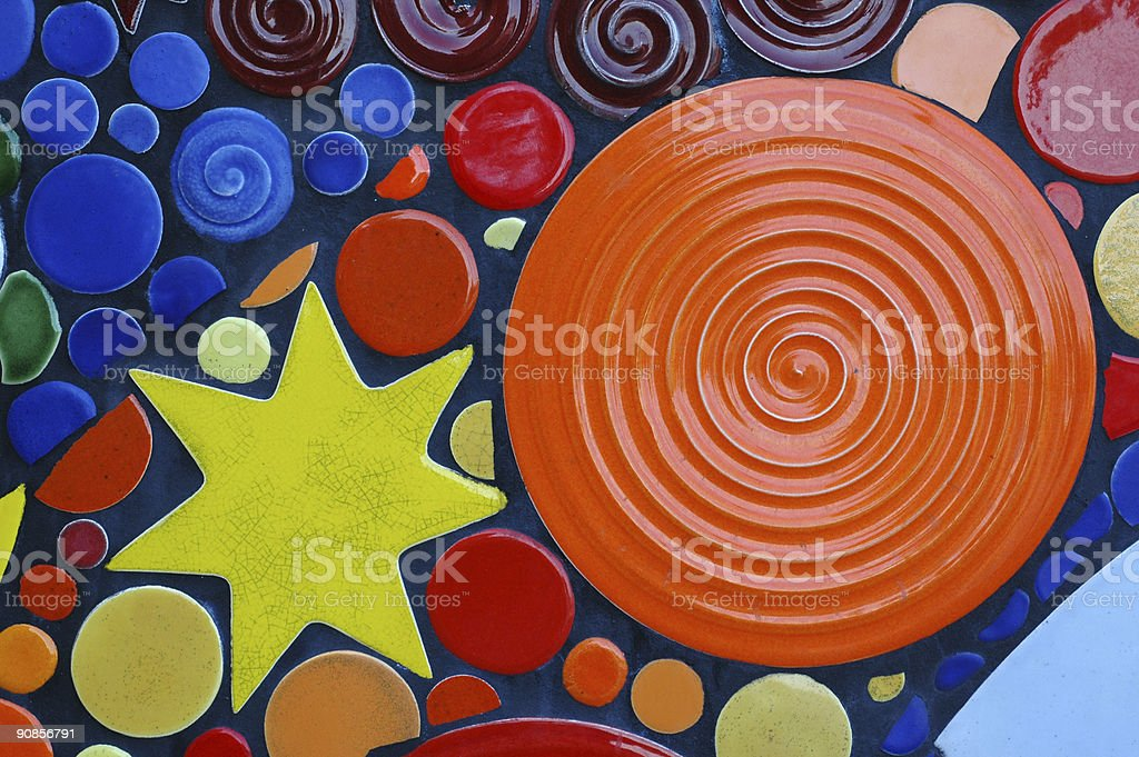 sun and star tiles royalty-free stock photo
