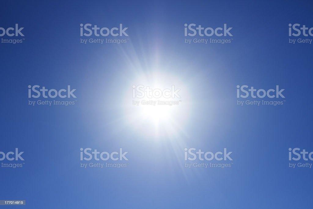 Sun at the sky royalty-free stock photo