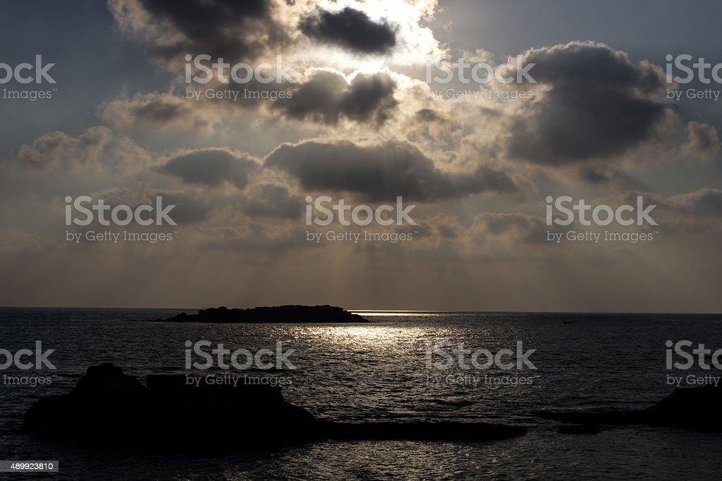 Sun Behind Clouds royalty-free stock photo