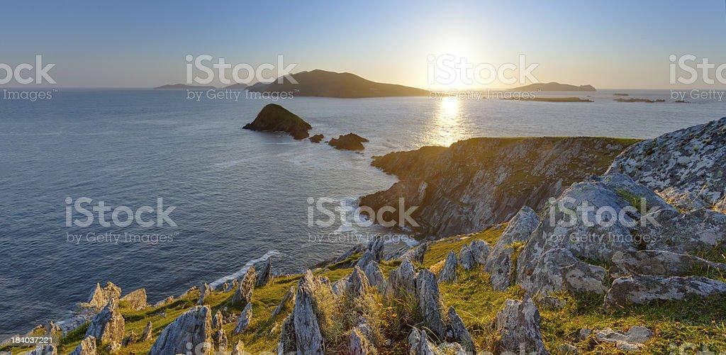 Sun between Islands stock photo