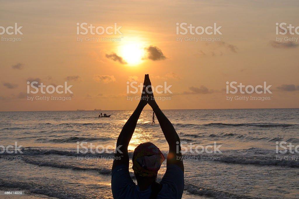 sun blessing stock photo