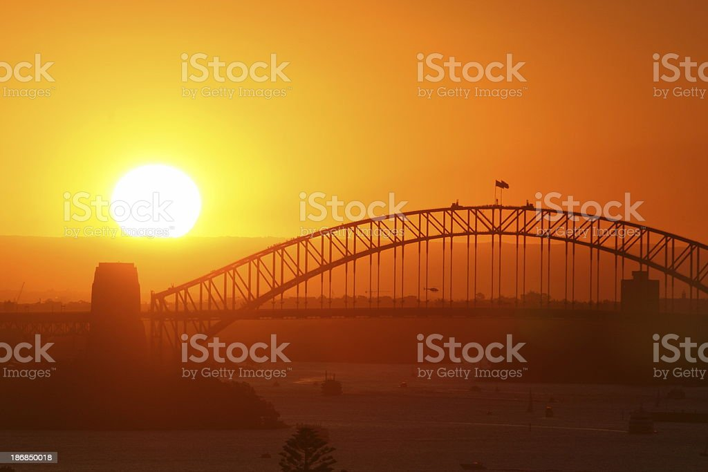 Sun & Bridge stock photo